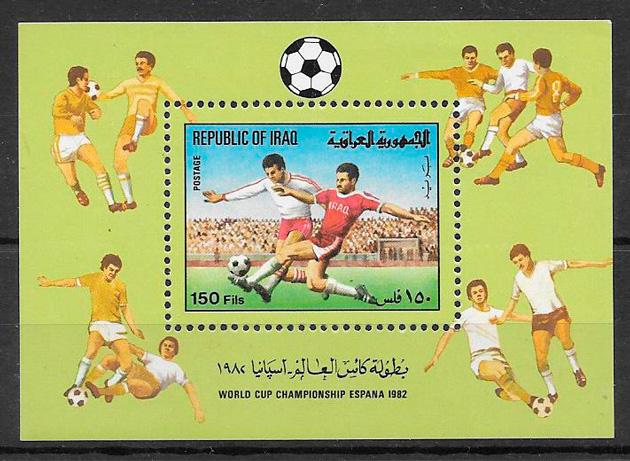 sellos fútbol Iraq 1982