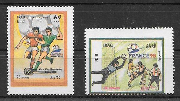 filatelia colección fútbol Iraq 1999