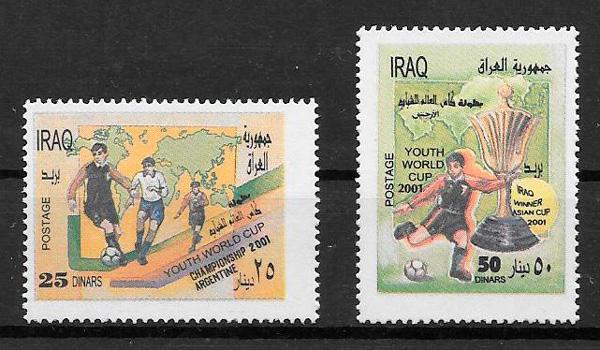 sellos fútbol Iraq 2001