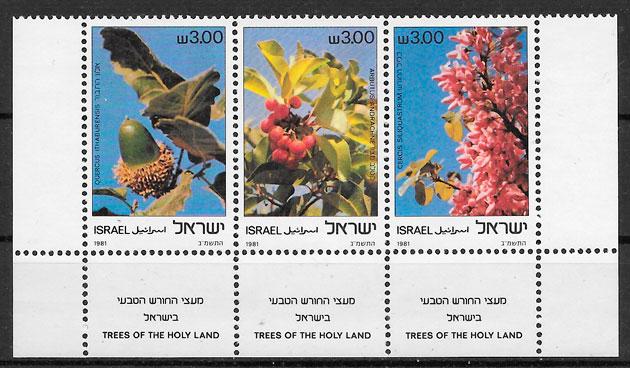 filatelia frutas Israel 1981