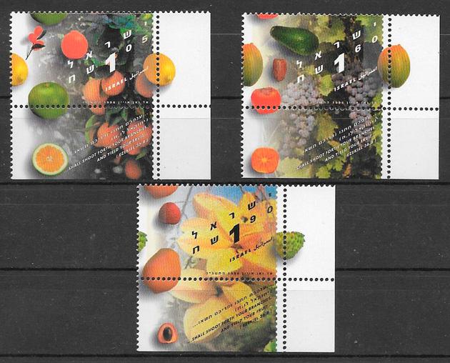 colección sellos frutas 1996 Israel