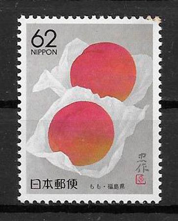 filatelia coleccion frutas Japon 1990