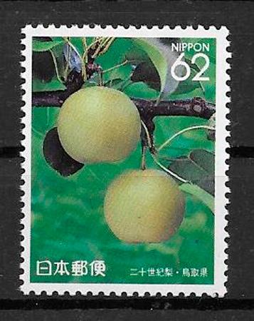filatelia coleccion frutas Japon 1991