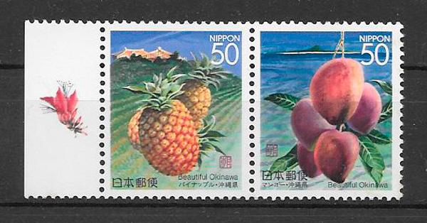 coleccion sellos frutas Japon 1997