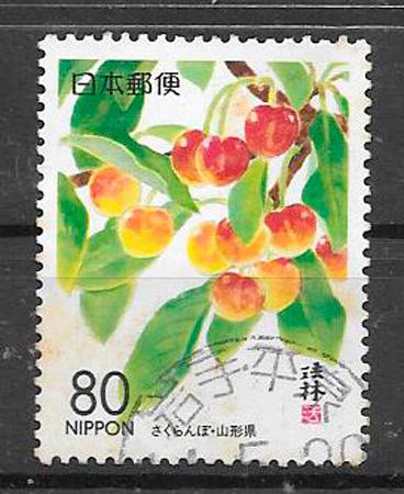 coleccion sellos frutas Japon 1999