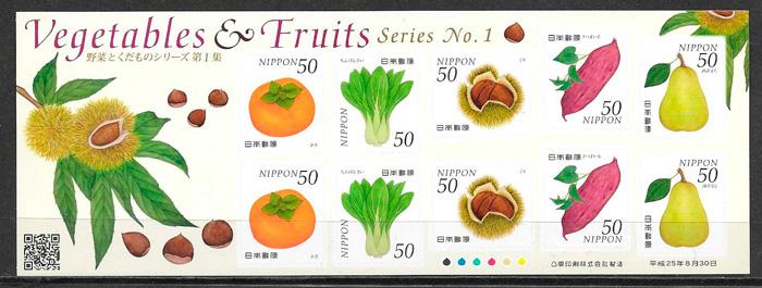filatelia frutas 2013 Japon