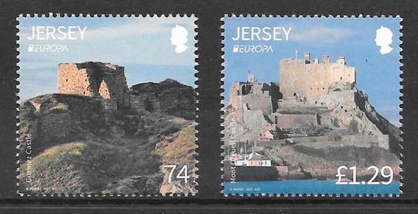 colección sellos tema Europa Jersey 2017