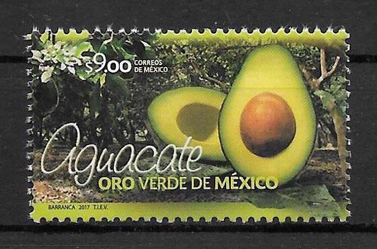 colección sellos frutas México 2017