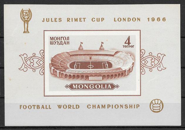 filatelia fútbol Mongolia 1966