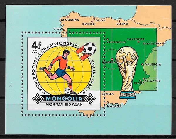 filatelia fútbol Mongolia 1892