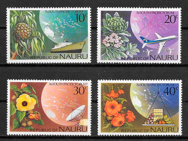 filatelia frutas Nauru 1976