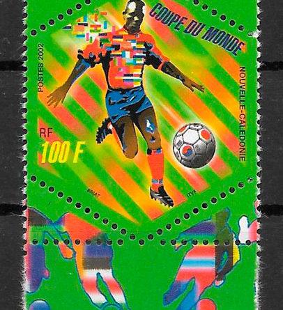 colección sellos fútbol Nueva caledonia 2002 fútbol