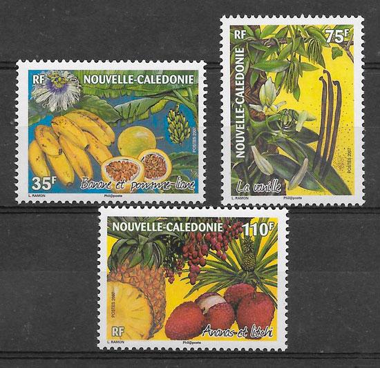 filatelia frutas Nueva Caledonia 2007
