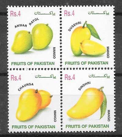 sellos frutas Pakistan 2002