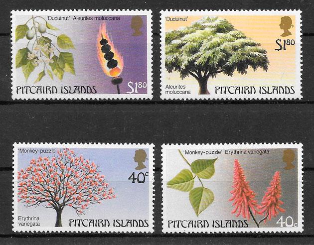 sellos frutas Pitcairin Island 1987