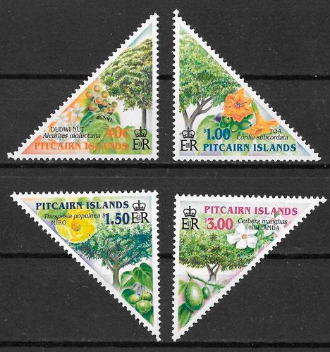 filatelia frutas Pitcairin Island 2002