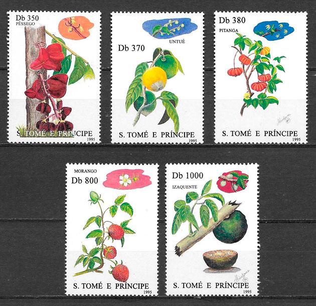 sellos frutas Santo Tomé y Príncipe 1995