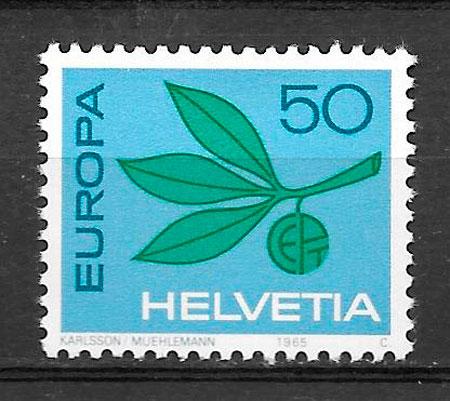 filatelia Europa Suiza 1965
