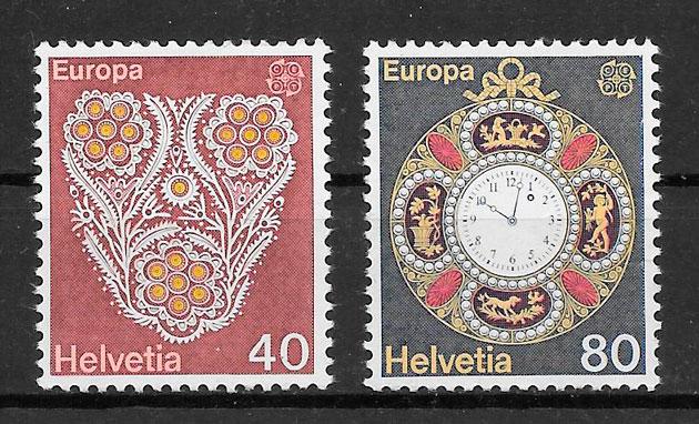 filatelia colección Europa Suiza 1976