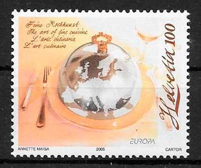 selos tema Europa Suiza 2005