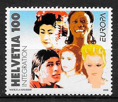 sellos tema Europa Suiza 2006
