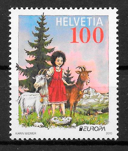 sellos Suiza Europa 2010