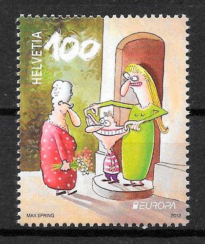 sellos Suiza Europa 2012