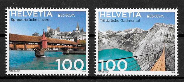 filatelia colección Europa Suiza 2018
