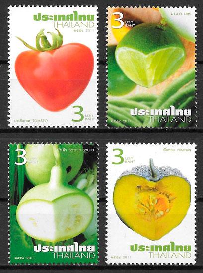filatelia frutas Tailandia 2011