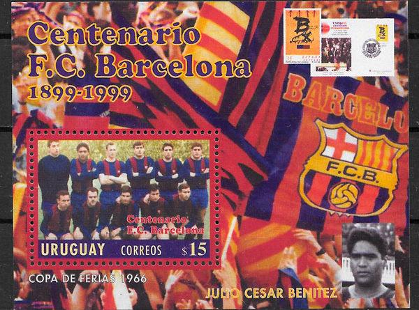 sellos fútbol Uruguay 1999