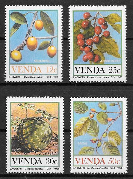 filatelia frutas Venda 1985
