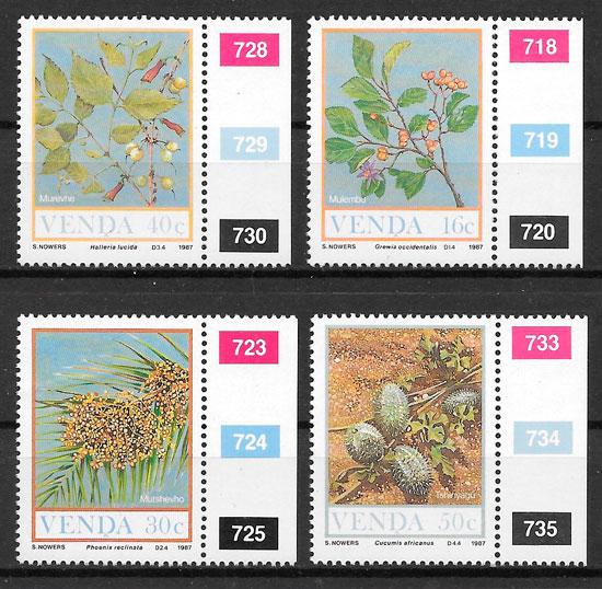 colección sellos frutas Venda 1987