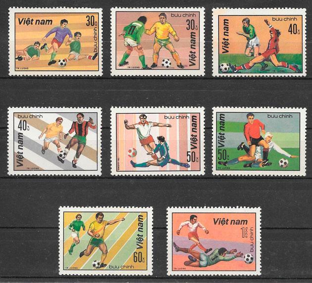filatelia fútbol Viet Nam 1982