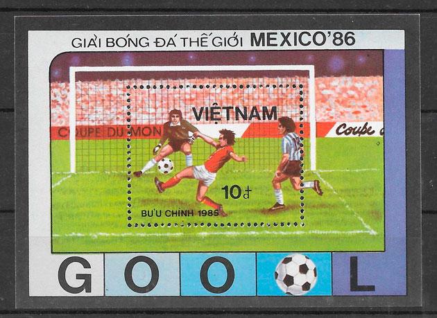 sellos fútbol Viet Nam 1985