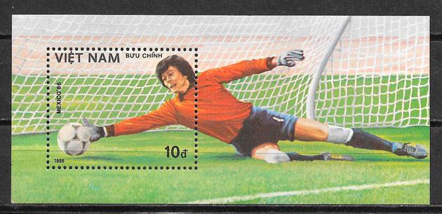 sellos fútbol Viet Nam 1986