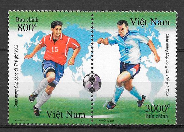 sellos futbol Viet Nam 2001