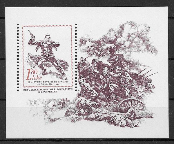 sellos temas varios Albania 1981