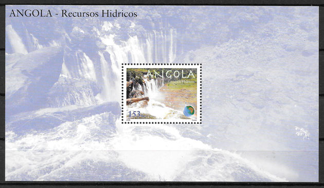 sellos temas varios Angola 2008