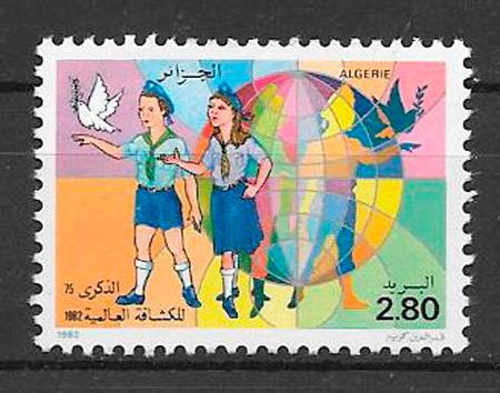 colección sellos temas varios Argelia 1982