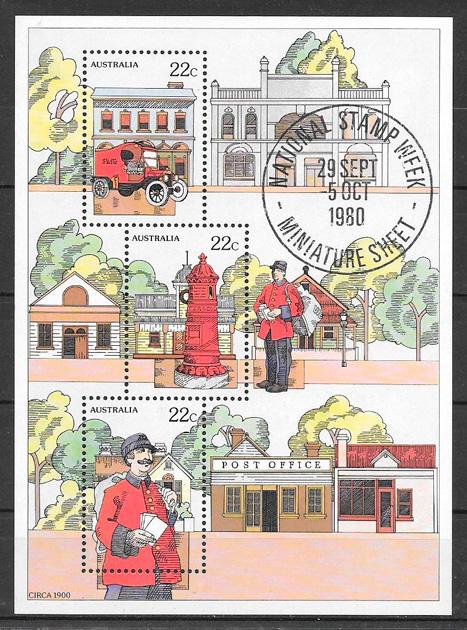sellos temas varios Australia 1980