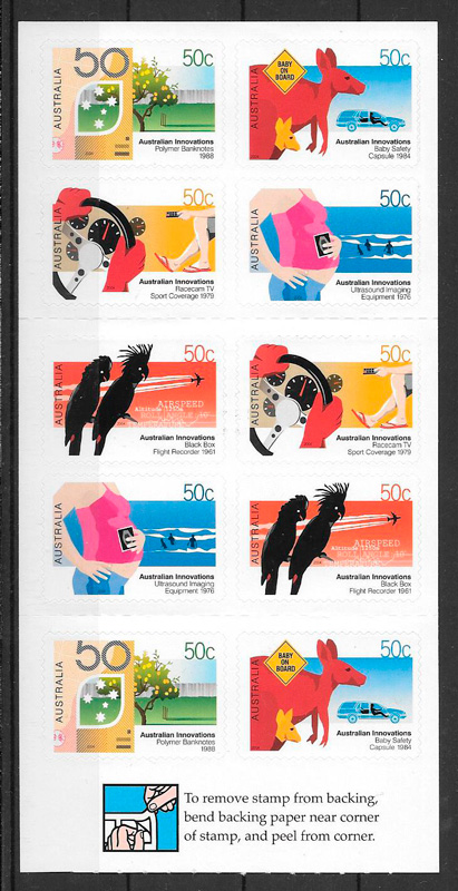 colección sellos temas varios Australia 2004