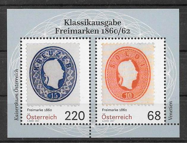 filatelia temas varios Austria 2017