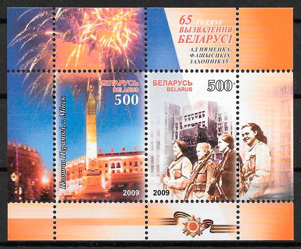 sellos temas varios Bielorrusia 2009