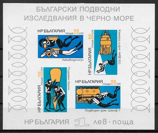 colección sellos temas varios Bulgaria 1973