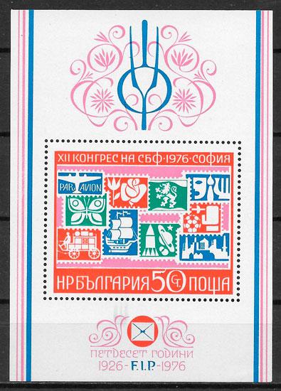 sellos temas varios Bulgaria 1976