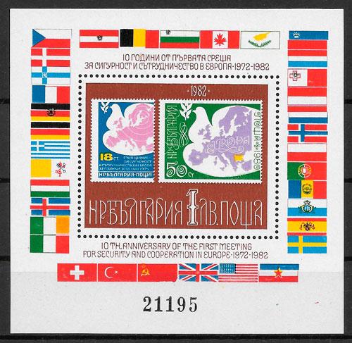 filatelia colección temas varios Bulgaria 1982