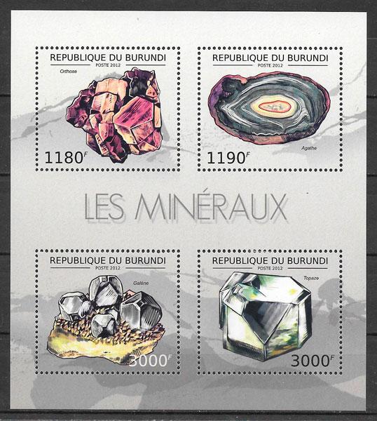 sellos temas varios Burundi 2012