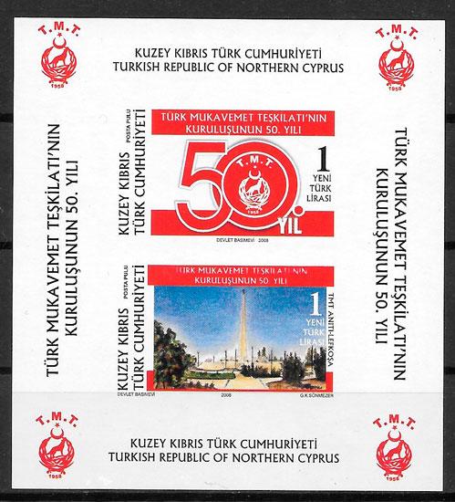 sellos temas varios Chipre Turco 2008