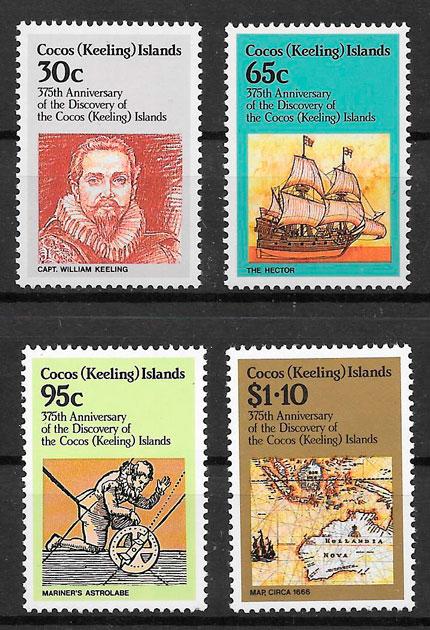 colección sellos temas varios Cocos Islands 1984