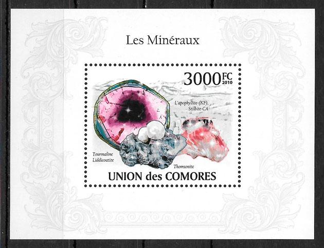 sellos temas varios Comores 2009